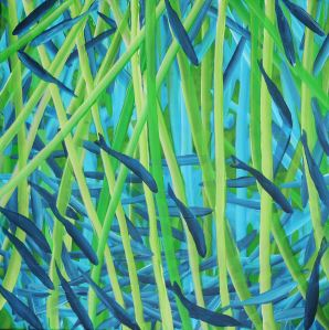 another world acrylic on canvas 60 x 60 cm
