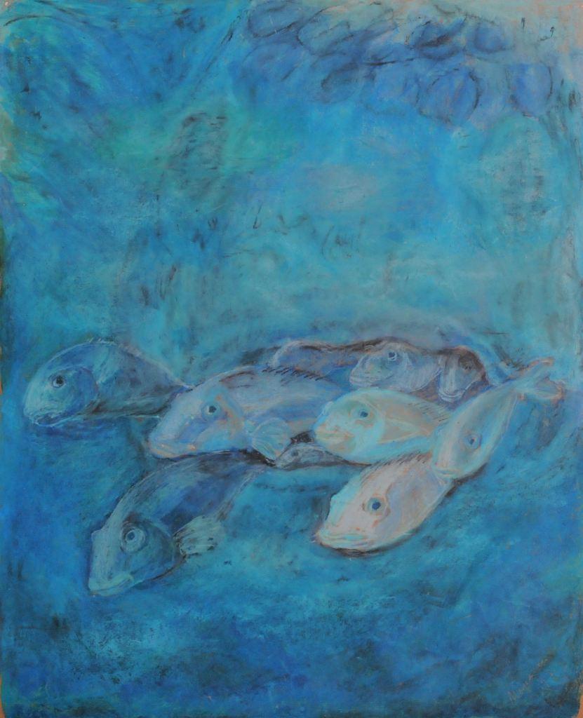 opening/ pastel on paper/ 60 x 80 cm