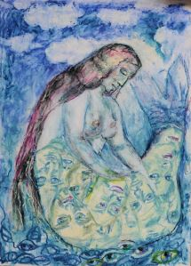 frozen memories pastel on paper