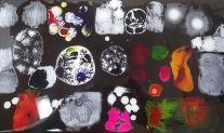 study: acryl, ink, resin