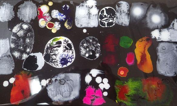 acryl, ink, resin
